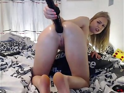 Giant Dildo in a Small Young Ass — More Extreme Anal — www.girls4cock.com/siswet19