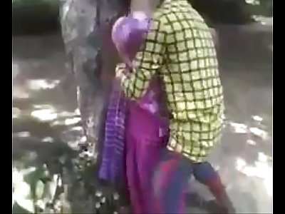 Desi teen enjoying fucking in jungle